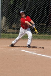peewee baseball hit