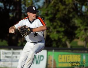 Carnduff pitcher at senior men's A2 provincials