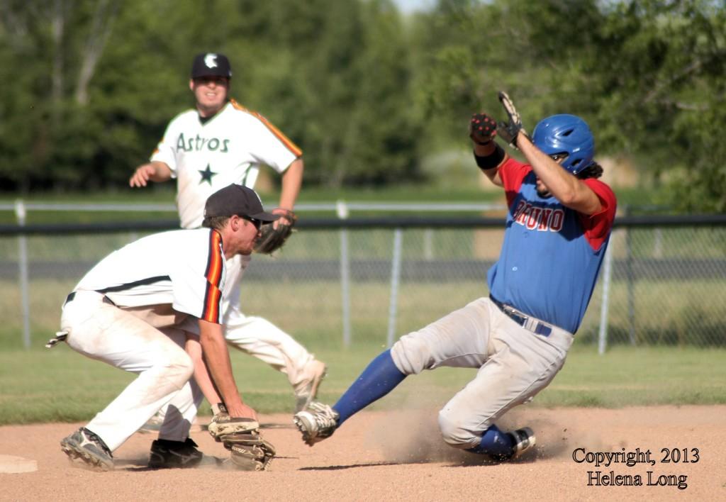 sliding into second base