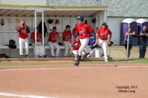 Corey Wildeman running home