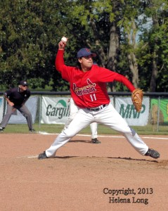 Francis Kiefer, pitching for Unity