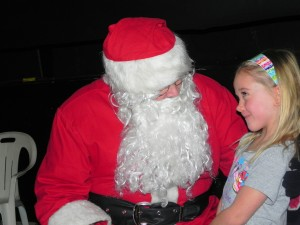 Santa Claus and fan