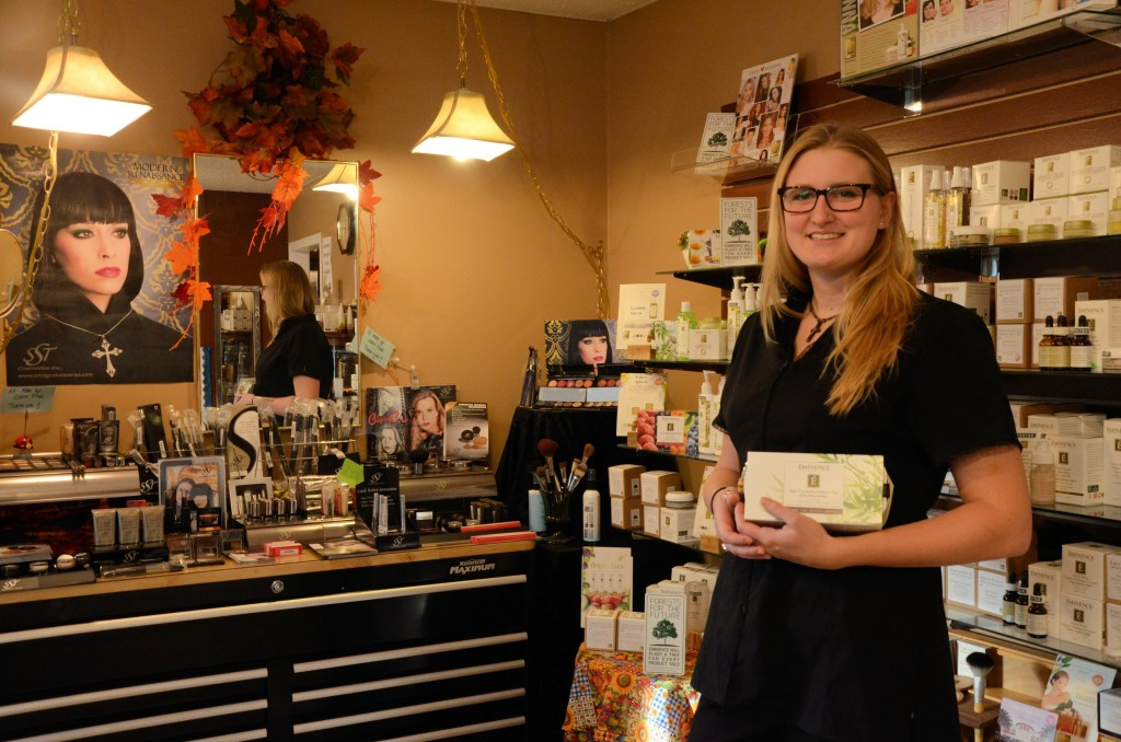 Katie shows off the amazing, organic skin Eminence line.