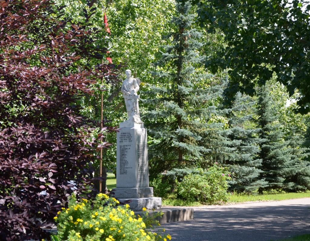 War memorial at Unity, Saskatchewan