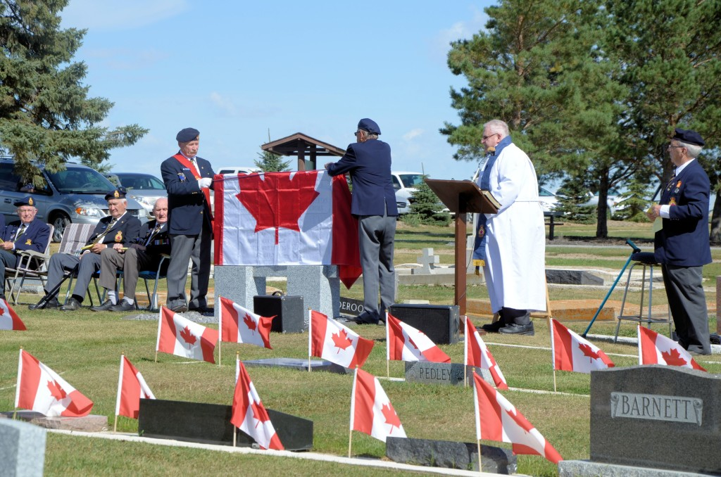 Veterans' Plot at Pleasantview Cemetery, Unity SK