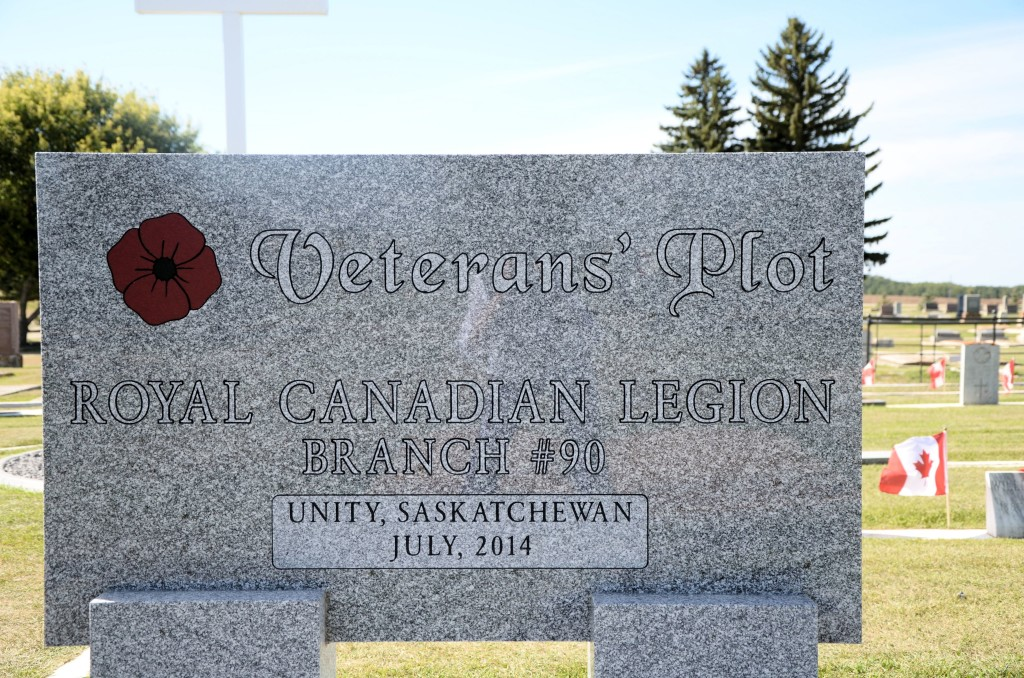 Veterans' Plot, Pleasantview Cemetery, Unity, Saskatchewan