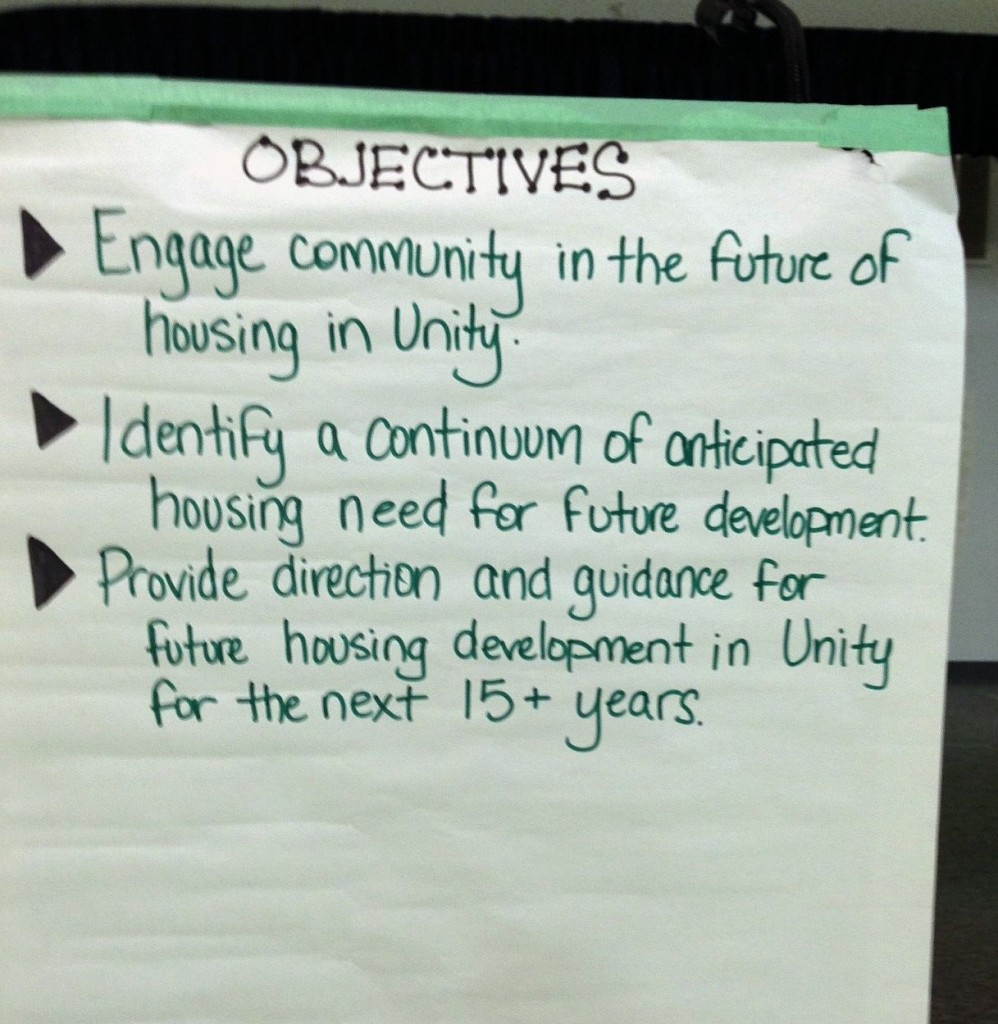 Unity SK housing study goals