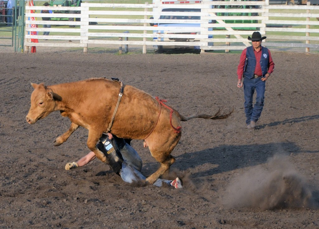 Celebrity Bull Riding at Unity rodeo